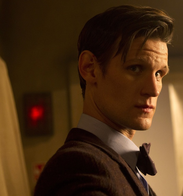 Matt Smith looks grave in 'Doctor Who' 50th special.