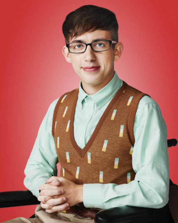 Kevin McHale as Artie Abrams in Season 5 of Glee.
