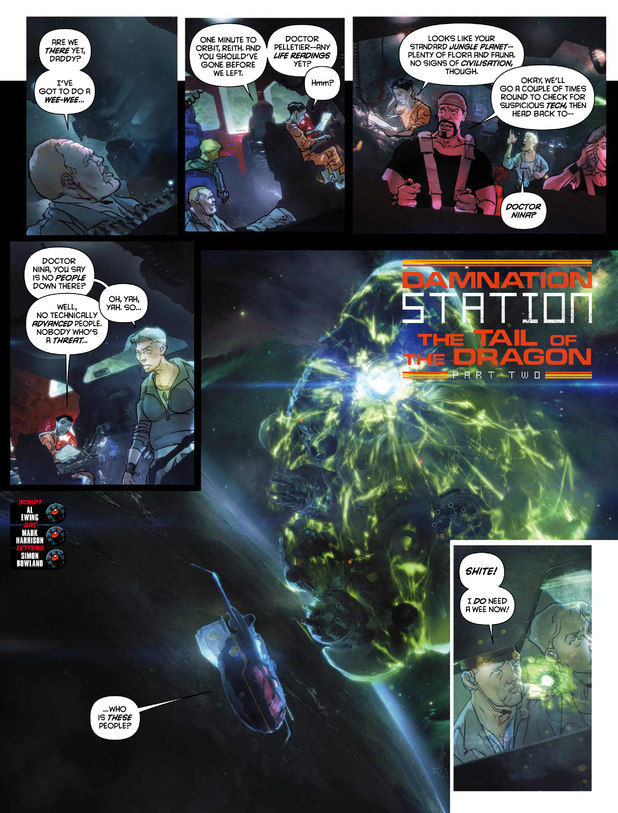 2000 AD Prog 1854 Damnation Station: The Tail Of The Dragon Part Two
