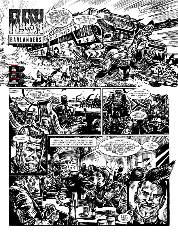 2000 AD Prog 1854 Flesh Badlanders Part 5