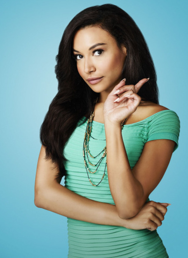 Naya Rivera as Santana Lopez in Season 5 of Glee.