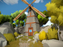 The Witness website contains a cryptic message and pair of screenshots.
