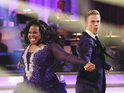 Amber Riley says she gets frustrated but is determined to do well on the show.