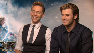 Tom Hiddleston and Chris Hemsworth chat to Digital Spy ahead of the release of 'Thor: The Dark World'.