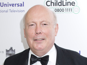 Julian Fellowes attends the Downton Abbey themed fundraiser for the NSPCC at The Savoy Hotel, Strand, Londo