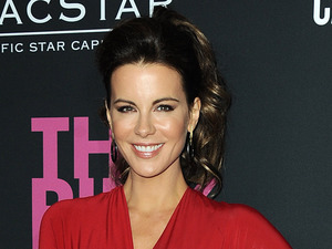 Actress Kate Beckinsale arrives at Elyse Walker's The Pink Party 2013 at Hangar 8 at the Santa Monica Airport on Saturday, Oct. 19, 2013 in Santa Monica, Calif. . (Photo by Jordan Strauss/Invision/AP)