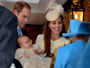 Prince William and Kate talk with Queen Elizabeth II