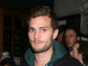 Jamie Dornan arriving for the press night of James McAvoy's new play 'Three Days of Rain' at the Apollo Theatre in London.