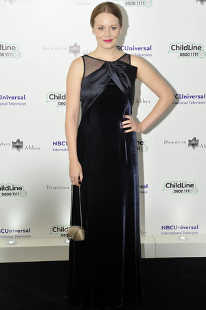 Cara Theobald, attend the Downton Abbey themed fundraiser for the NSPCC at The Savoy Hotel, Strand, Londo