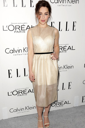 Emilia Clarke Elle Magazine 20th Annual Women in Hollywood, Los Angeles, America - 21 Oct 2013