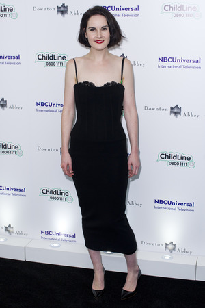 Michelle Dockery attend the Downton Abbey themed fundraiser for the NSPCC at The Savoy Hotel, Strand, Londo