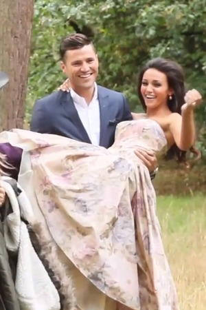 Mark Wright and Michelle Keegan celebrate their engagement with photoshoot