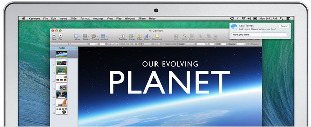 Interactive notifications on OS X Mavericks
