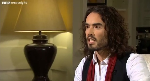 Russell Brand talks to Newsnight's Jeremy Paxman
