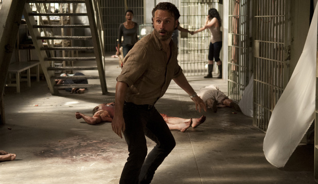 Andrew Lincoln as Rick Grimes in The Walking Dead S04E02: 'Infected'