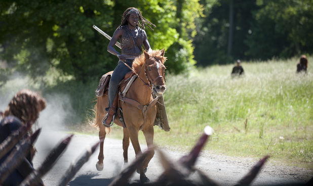 Danai Gurira as Michonne in The Walking Dead S04E02: 'Infected'
