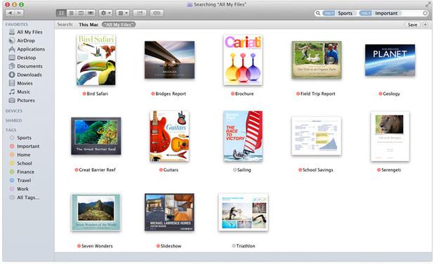 Tags on OS X Mavericks