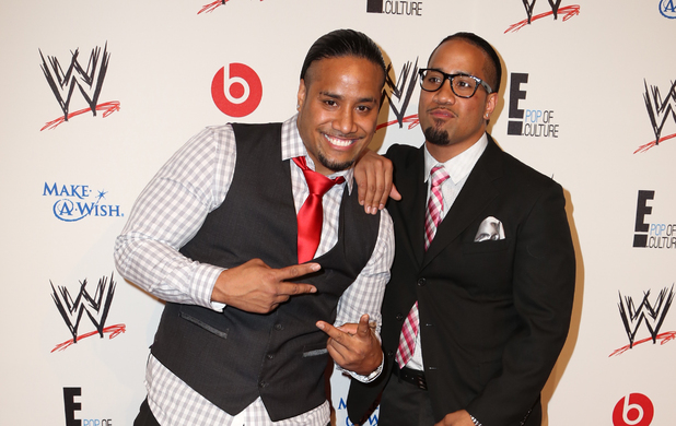 Jimmy and Jey Uso WWE & E! Entertainment's SuperStars For Hope Event