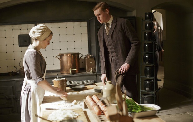 Sophie McShera as Daisy and Matt Milne as Alfred in 'Downton Abbey' Season 4 Episode 6