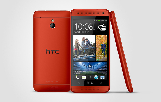 HTC's One Mini in glamour red