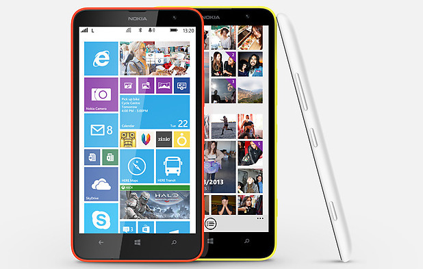 The Nokia Lumia 1320 smartphone
