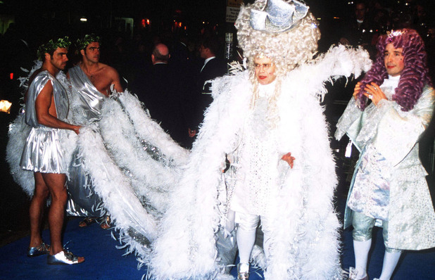 UNITED KINGDOM - 1997: Elton John And Boyfriend David Furnish, 'Elton John's 50th Birthday Party', Hammersmith Palais, London (Photo by Dave Benett/Getty Images)