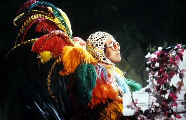 Elton John, performing 1977