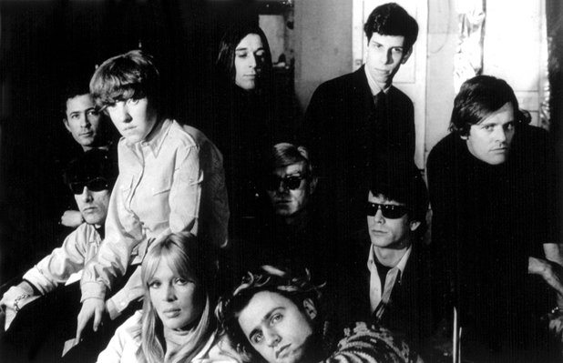 Lou Reed with The Velvet Underground, Nico and Andy Warhol.