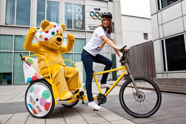 Alex Jones prepare for Children in Need Rickshaw challenge
