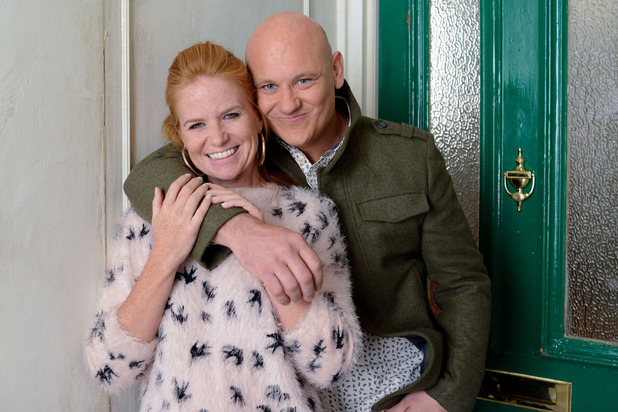 Patsy Palmer and Terry Alderton as Bianca and Terry in EastEnders