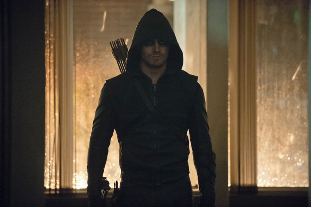 Stephen Amell as The Arrow in 'Arrow' S02E03: 'Broken Dolls'