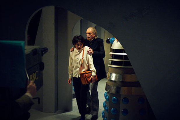Shooting 'An Adventure in Space and Time'.