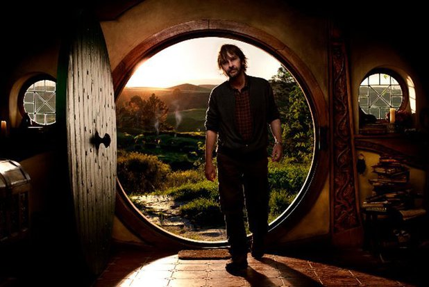 Peter Jackson on the set of 'The Hobbit'