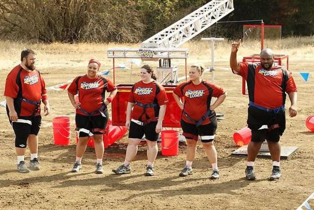 The Biggest Loser S15E02: The red team during the Dice Challenge
