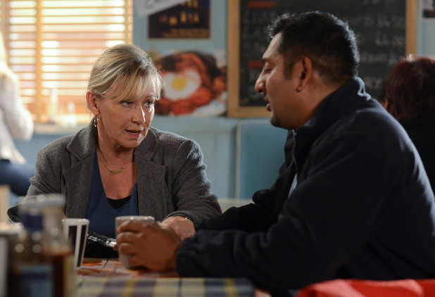 Carol tries to ease Masood's fears.