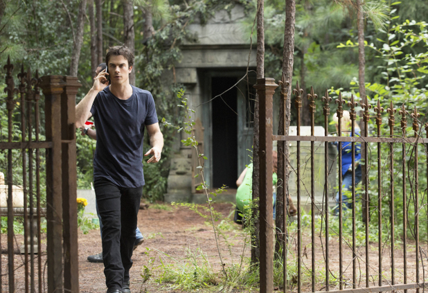 Ian Somerhalder as Damon in The Vampire Diaries S05E04: 'For Whom The Bell Tolls'