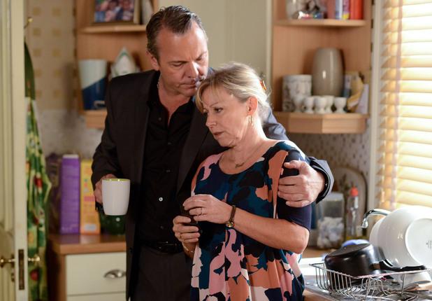David comforts Carol.