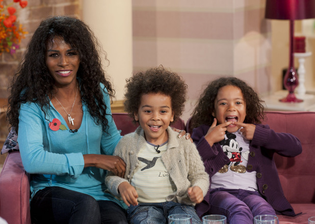 This Morning' TV Programme, London, Britain - 31 Oct 2011Sinitta and her two children, Zac and Magdalena 31 Oct 2011