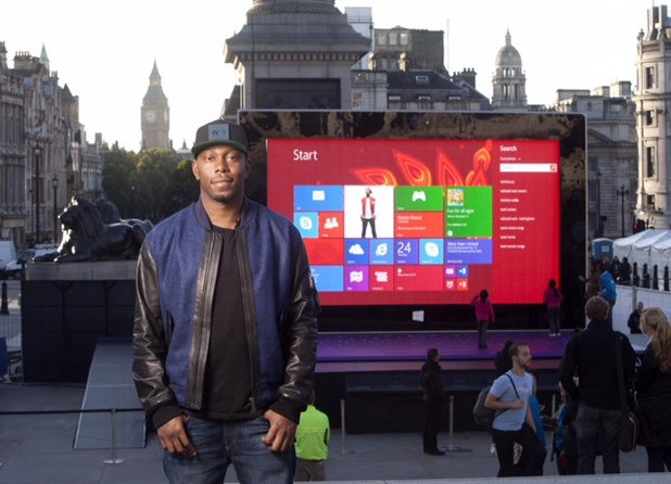 Dizzee Rascal reveals a giant Surface 2