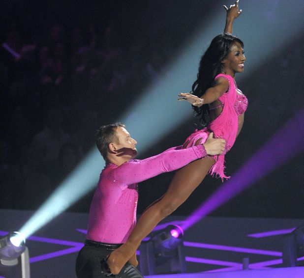 'Dancing on Ice' TV Programme, Elstree, Britain. - 10 Jan 2010 Sinitta and Andrei Lipanov. 10 Jan 2010