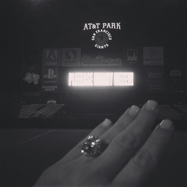 Kim Kardashian celebrates her engagement to Kanye West