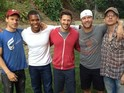 Scott Porter reunites with stars of the American football drama series.