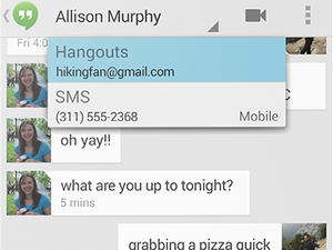 Android 4.4 KitKat messages screenshot