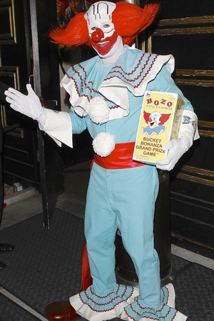 David Arquette dresses as Bozo the Clown to attend a Halloween party in Hollywood