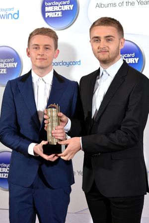 Howard and Guy Lawrence of Disclosure arriving at the Barclaycard Mercury Music Prize ceremony at the Roundhouse, Camden.