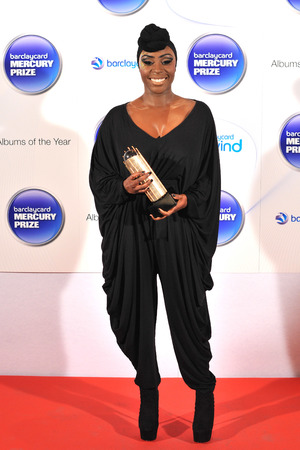 Laura Mvula arriving at the Barclaycard Mercury Music Prize ceremony at the Roundhouse, Camden.