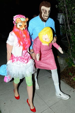 Casamigos Halloween party, Los Angeles, America - 25 Oct 2013 Sacha Baron Cohen and Isla Fisher 25 Oct 2013