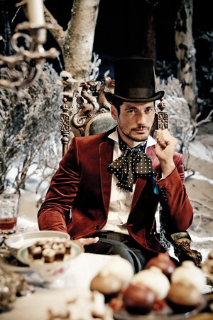 David Gandy appearing in the Marks & Spencer Christmas campaign