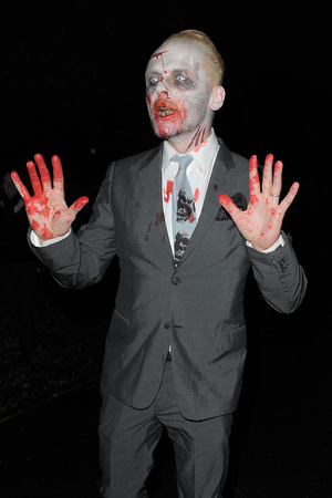 Simon Pegg Jonathan Ross Halloween party 2013
