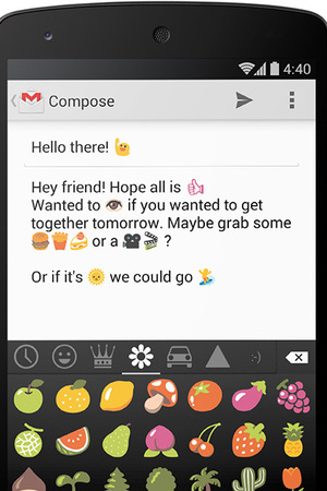 Android 4.4 KitKat Emoji screenshot